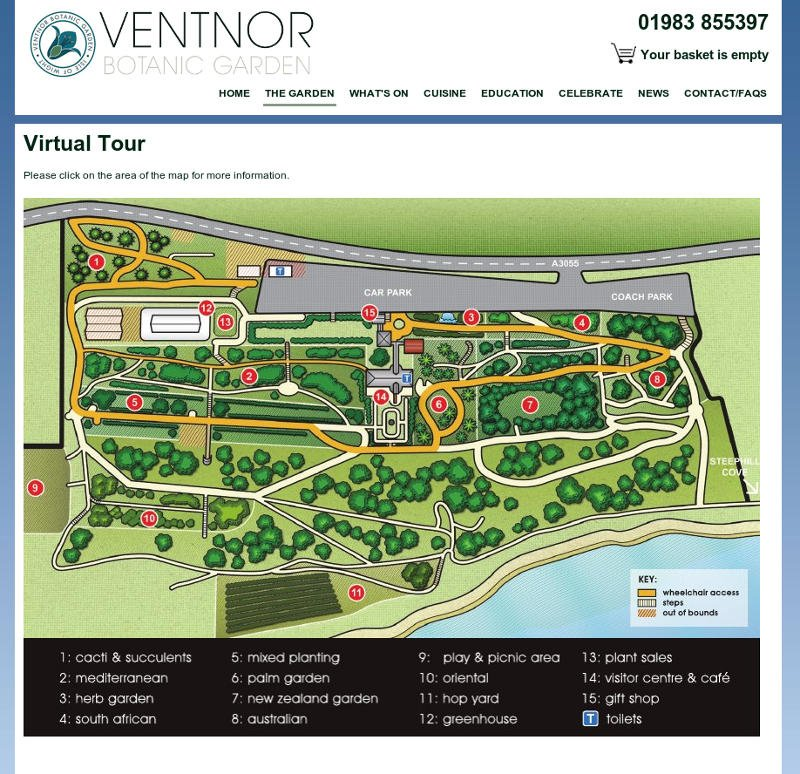 Ventnor Botanic garden virtual tour