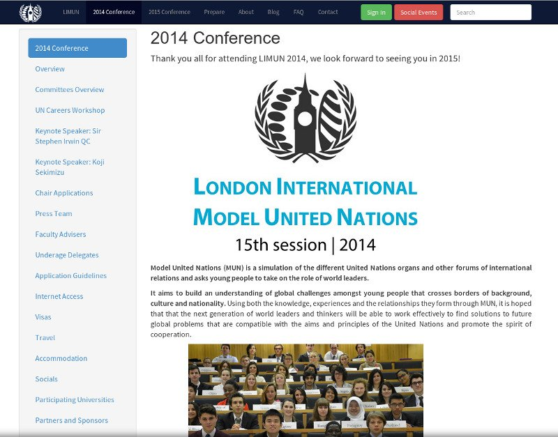 LIMUN 2014 Conference