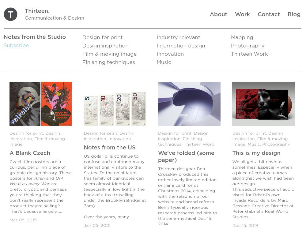 Blog fully integrated into a responsive template